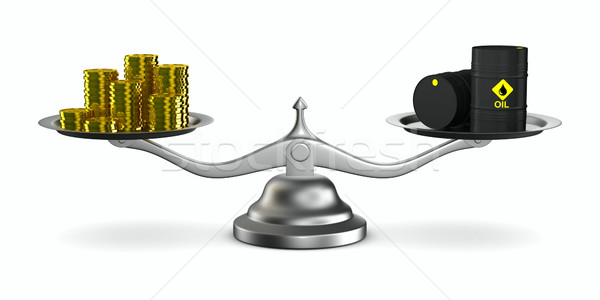 Change cost of oil in market. Isolated 3D image Stock photo © ISerg