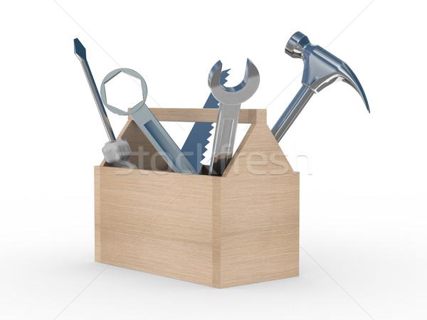 окна инструменты изолированный 3D изображение Сток-фото © ISerg