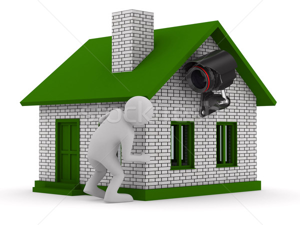man looks out of corner. 3D image Stock photo © ISerg
