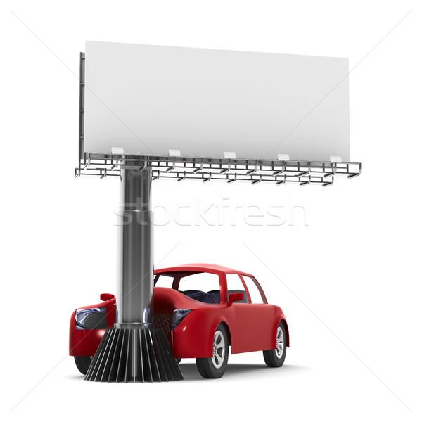 Auto incidente bianco isolato illustrazione 3d strada Foto d'archivio © ISerg