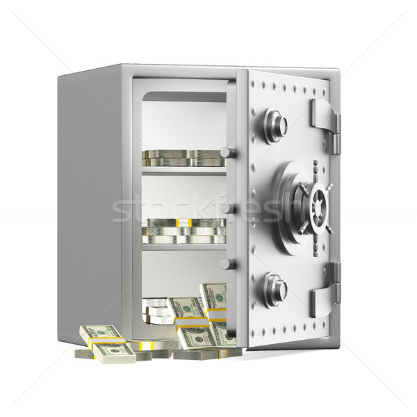 Safe on white background. Isolated 3D illustration Stock photo © ISerg