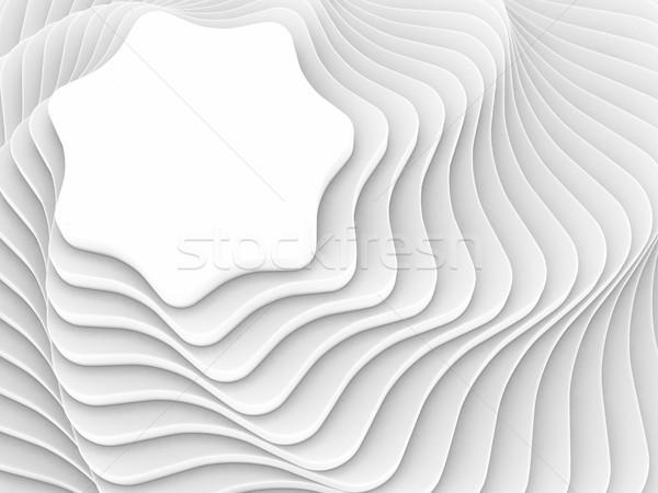 white poligon construction. 3D illustration Stock photo © ISerg