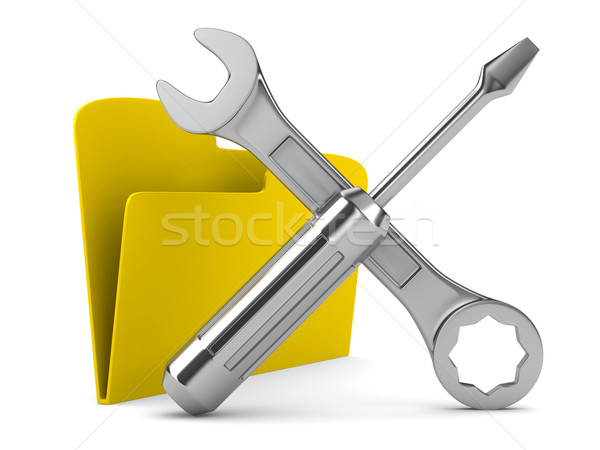 Computer technical service. Isolated 3D image Stock photo © ISerg