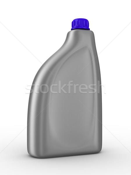 Lubricating oil bottle on white background. Isolated 3D image Stock photo © ISerg