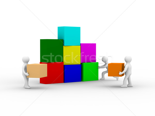 Conceptual image of teamwork. Isolated 3D image Stock photo © ISerg