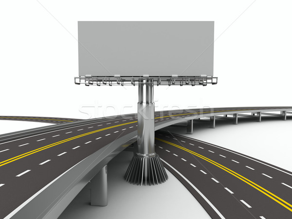 Route Billboard isolé 3D image rue Photo stock © ISerg