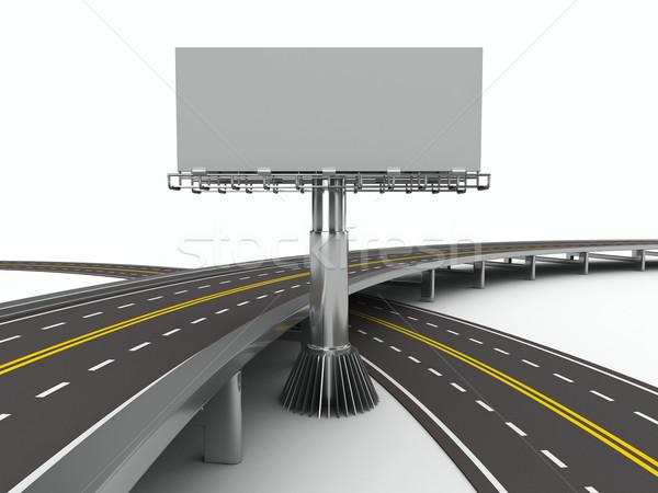 дороги Billboard изолированный 3D изображение улице Сток-фото © ISerg
