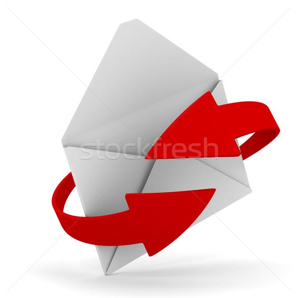 Foto d'archivio: E-mail · bianco · isolato · 3D · immagine · business