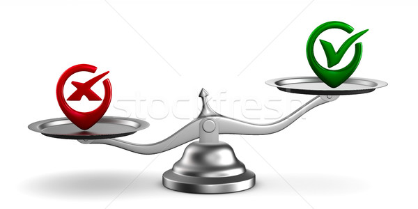 Scales on white background. Isolated 3D image Stock photo © ISerg