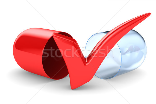 Stock photo: capsule on white background. Isolated 3D illustration