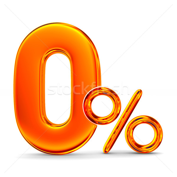 Zero percent on white background. Isolated 3D illustration Stock photo © ISerg