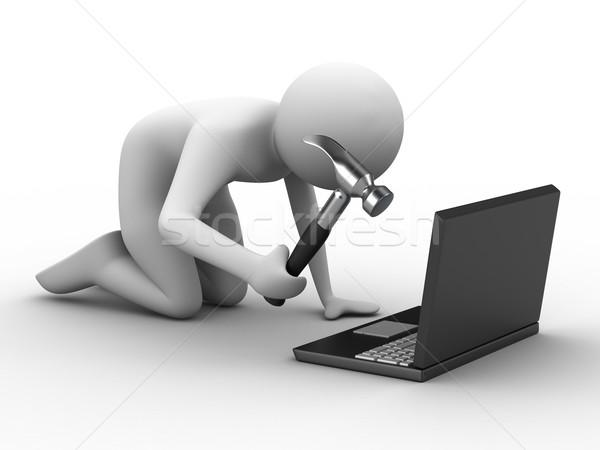 Foto stock: Computador · técnico · serviço · isolado · 3D · imagem