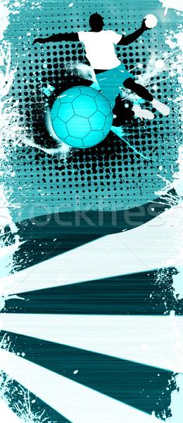 Balonmano tiro resumen grunge espacio deporte Foto stock © IstONE_hun