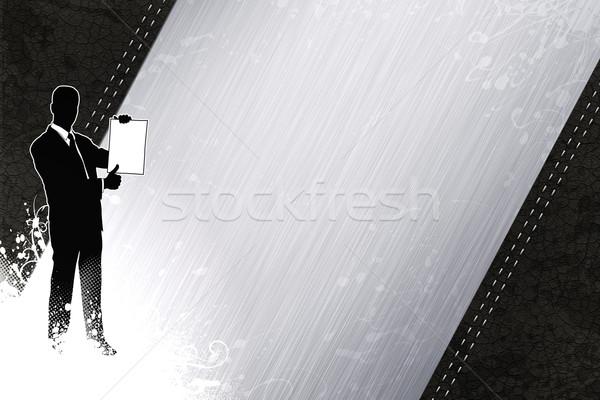 Zakenman pak abstract ruimte kantoor mannen Stockfoto © IstONE_hun