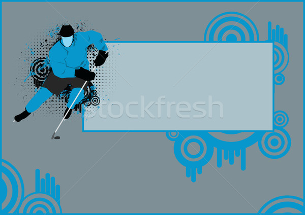 Jégkorong poszter játékos jég űr sport Stock fotó © IstONE_hun