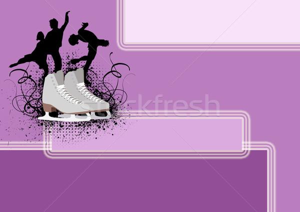 Patinaje artístico anunciante personas hielo espacio mujer Foto stock © IstONE_hun