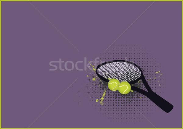 Tenis spor nesne uzay sağlık arka plan Stok fotoğraf © IstONE_hun