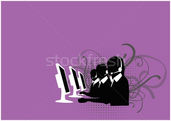 Callcenter background Stock photo © IstONE_hun