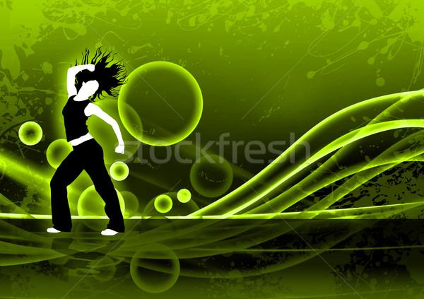 фитнес Dance аннотация цвета zumba пространстве Сток-фото © IstONE_hun