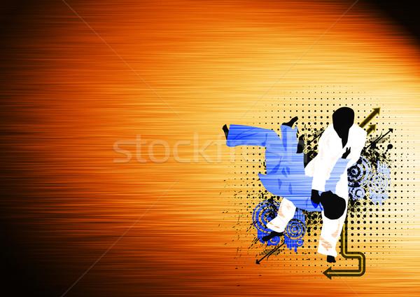 Judo deporte anunciante partido espacio deportes Foto stock © IstONE_hun
