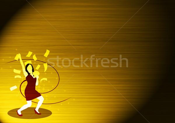 Geld regen abstract kleur ruimte vrouw Stockfoto © IstONE_hun