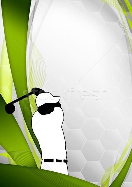 Golf poster golfer schieten ruimte gras Stockfoto © IstONE_hun