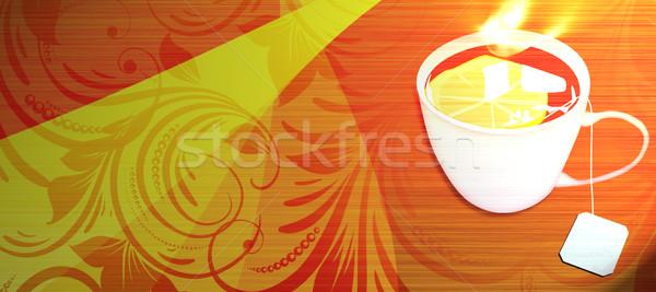 Beker thee abstract object ruimte ontwerp Stockfoto © IstONE_hun