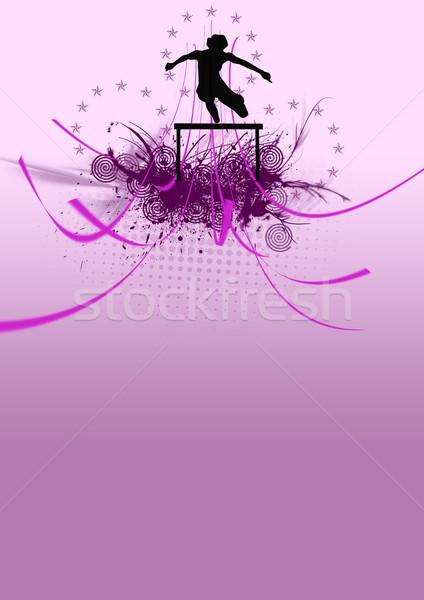 Hurdles athlete Stock photo © IstONE_hun