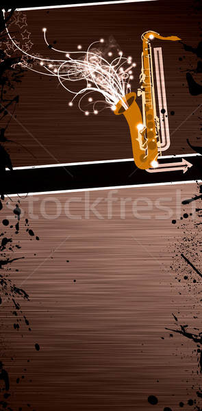 Saxofoon muziek kleur ruimte metaal rock Stockfoto © IstONE_hun