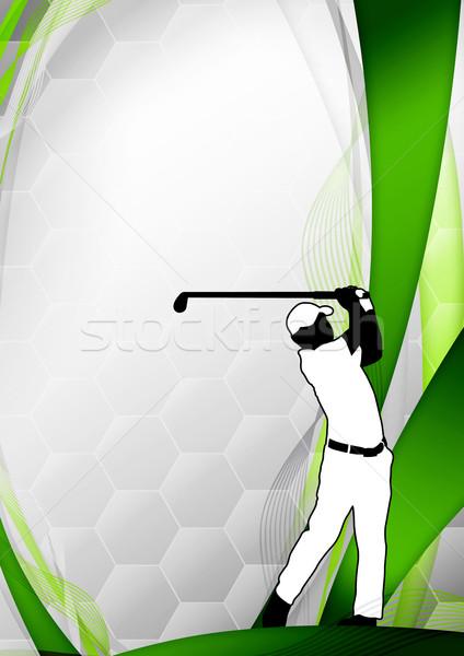 Golf poszter golfozó lövöldözés űr fű Stock fotó © IstONE_hun