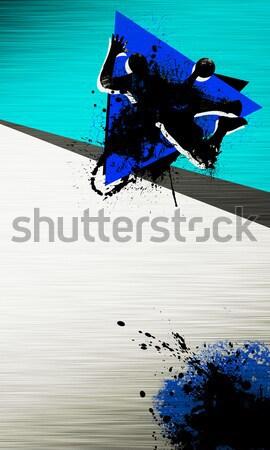 Hódeszka téli sport poszter férfi űr nő Stock fotó © IstONE_hun