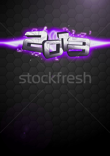Stock photo: Happy new year 2013 background