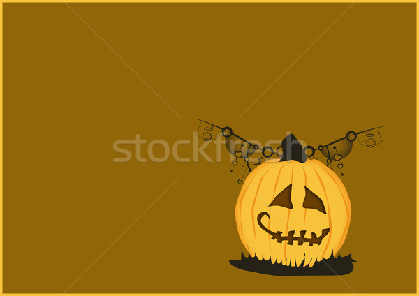 Halloween poster kabak soyut uzay mutlu Stok fotoğraf © IstONE_hun