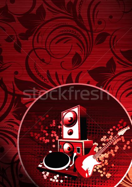 Concert objecten abstract grunge ruimte muziek Stockfoto © IstONE_hun