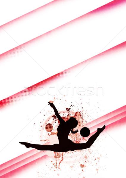Jimnastik uzay poster web broşür dergi Stok fotoğraf © IstONE_hun