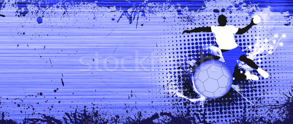 Handbal shot abstract grunge ruimte sport Stockfoto © IstONE_hun