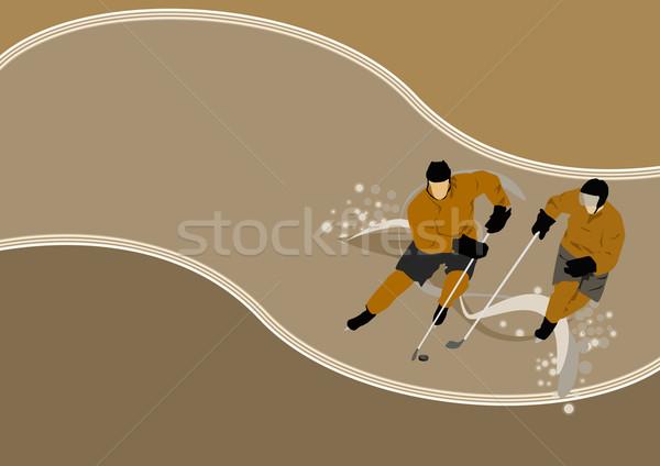Foto stock: Hockey · anunciante · jugador · hielo · espacio · deporte