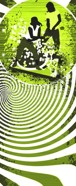 Zumba uygunluk soyut grunge uzay müzik Stok fotoğraf © IstONE_hun