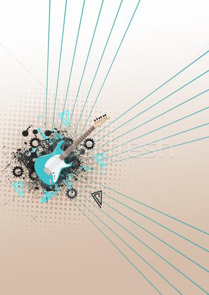 Grunge müzik uzay poster web broşür Stok fotoğraf © IstONE_hun