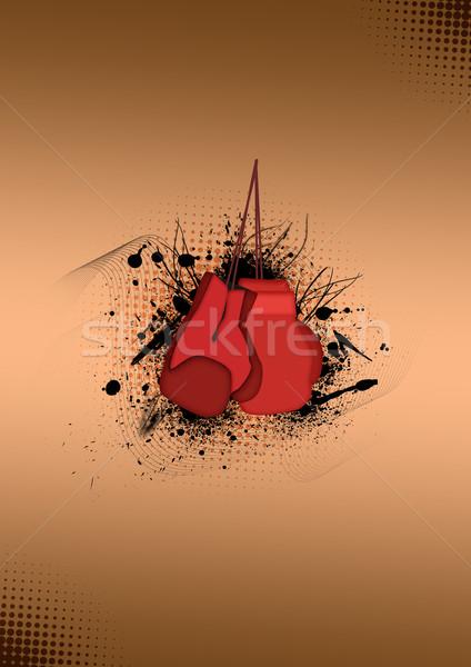Boksen abstract kleur hand gezondheid achtergrond Stockfoto © IstONE_hun