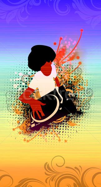 Afro soyut grunge müzik dans disko Stok fotoğraf © IstONE_hun