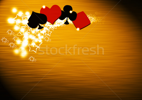 Poker casino abstract grunge spazio suit Foto d'archivio © IstONE_hun