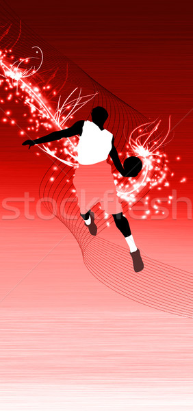 Basketbal springen ruimte poster web brochure Stockfoto © IstONE_hun