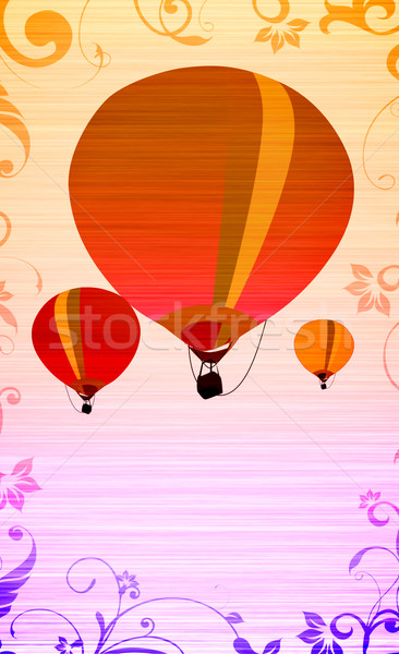 Hot air ballon Stock photo © IstONE_hun
