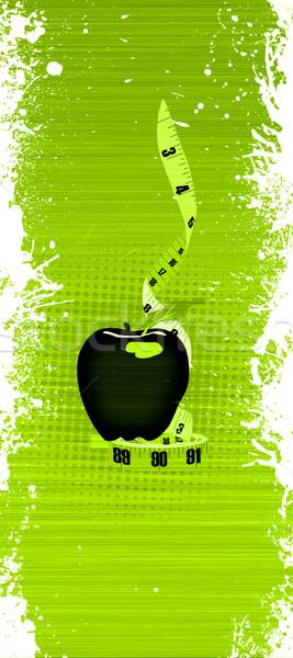 Elma soyut uzay gıda yeşil Stok fotoğraf © IstONE_hun