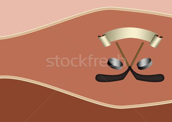 Jégkorong poszter denevér lemez űr sport Stock fotó © IstONE_hun