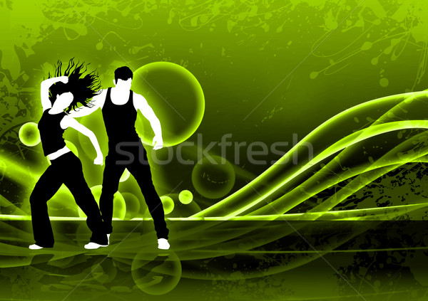 Uygunluk dans soyut renk zumba uzay Stok fotoğraf © IstONE_hun