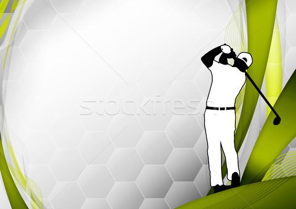Golf poster golfista tiro spazio erba Foto d'archivio © IstONE_hun