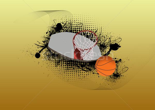 Basketbol spor uzay soyut boya eğlence Stok fotoğraf © IstONE_hun