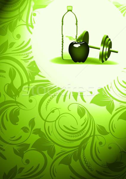 Elma su uygunluk soyut uzay cam Stok fotoğraf © IstONE_hun